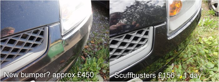 No need for a new bumper here, easy repair for Scuffbusters